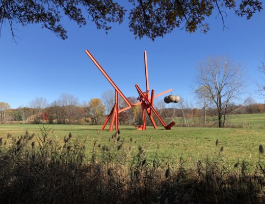 large red sculpture